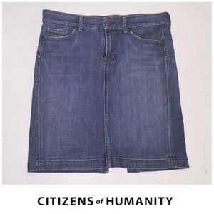 Citizens of Humanity denim novak pencil skirt 29